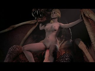 Saskia The Dragonslayer Riding A Dragon Cock [witcher 3] (weebstank)[monster]3D Bestiality